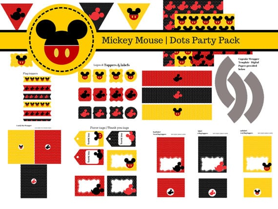 Mickey Mouse Party Invitations Printable Free