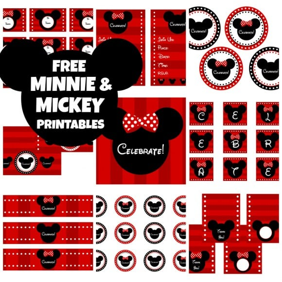 Mickey Mouse Party Printables Free