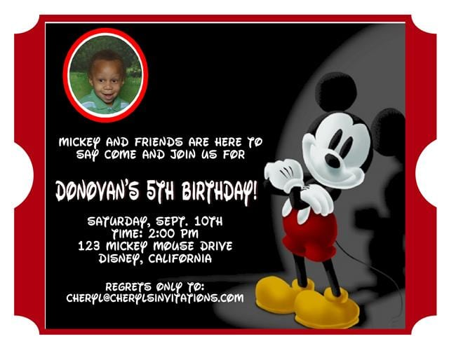 Mickey Mouse Personalized Invitations In Spanish