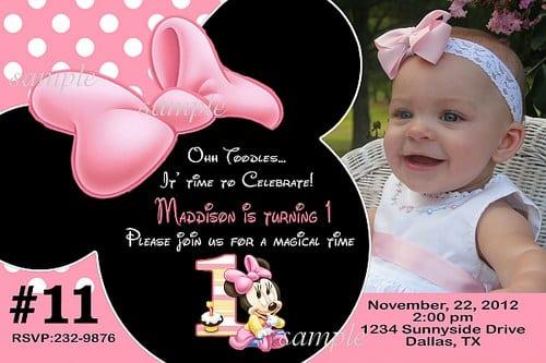 Minni Mouse Invites