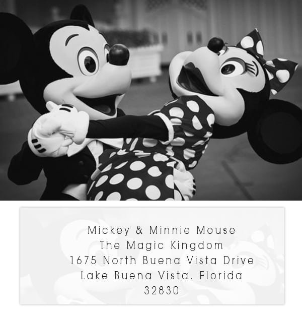 Minnie And Mickey Mouse Wedding Invitation