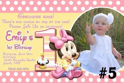 Minnie Mouse Invites 1st Birthday