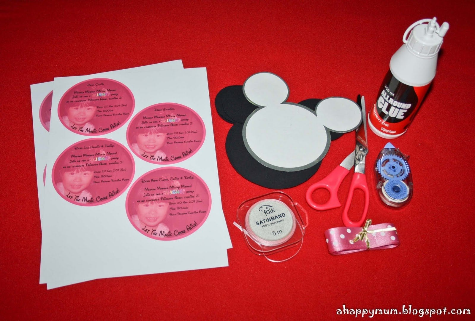 Minnie Mouse Invites Diy