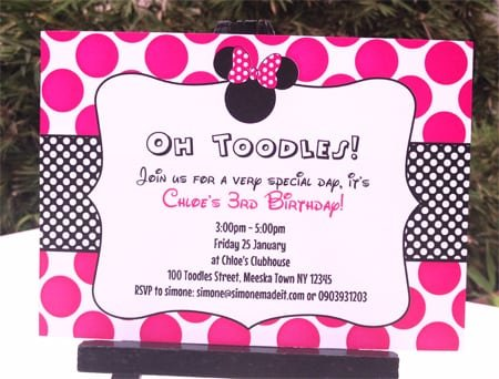 Minnie Mouse Party Invitation Ideas