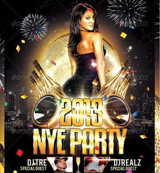 New Years Eve Party Poster Templates Free