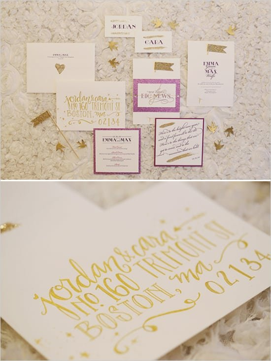 new years eve wedding invitation