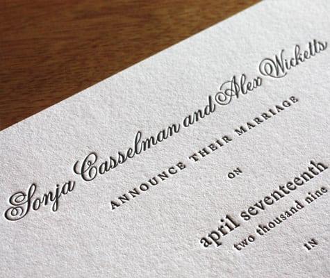 Old Wedding Invitation Fonts