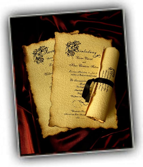 Old Wedding Invitations Wording