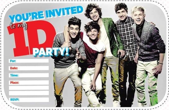 One Direction Free Printable Invitations