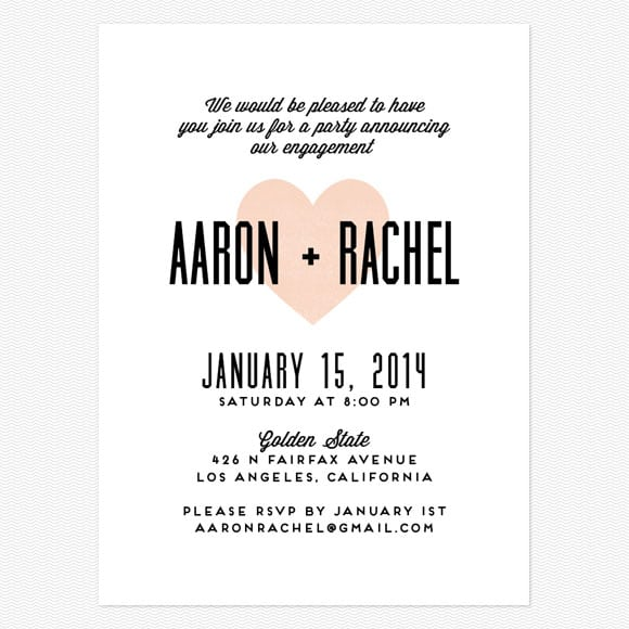 Online Invitation For Engagement Party