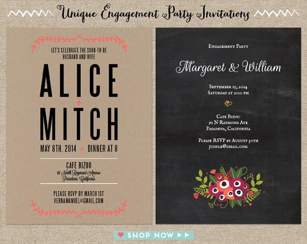 Original Engagement Party Invitation