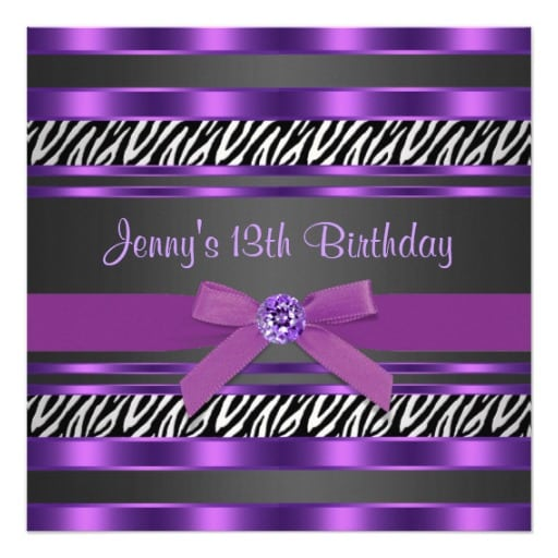 Party Invitations Girls 13