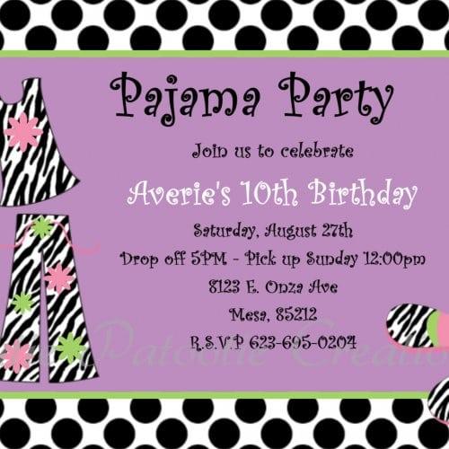 Partysleepover Invitations Printable
