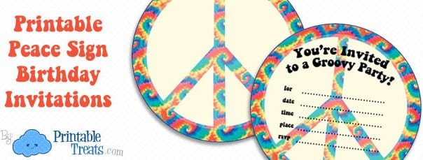 Peace Sign Invitation Template