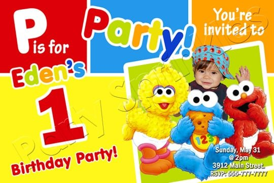 Personalized Baby Elmo Invitations