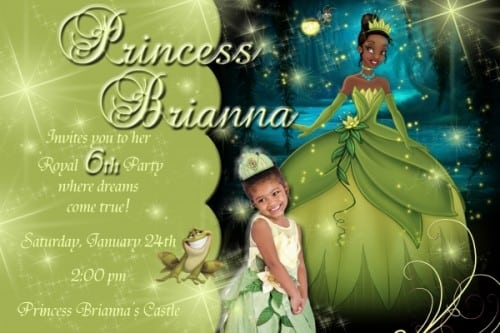 Personalized Princess And The Frog Birthday Invitations