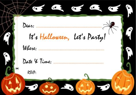 Pictures Of Free And Printable Halloween Party Invitations