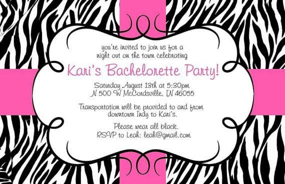 Pink Zebra Invitations Template