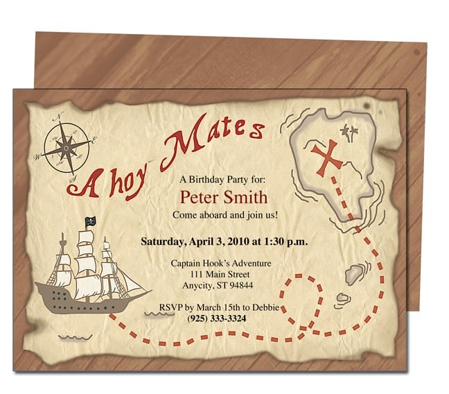 Pirate Birthday Invitation Templates