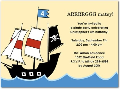 Pirate Birthday Invites