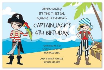 Pirate Invitations For Kids