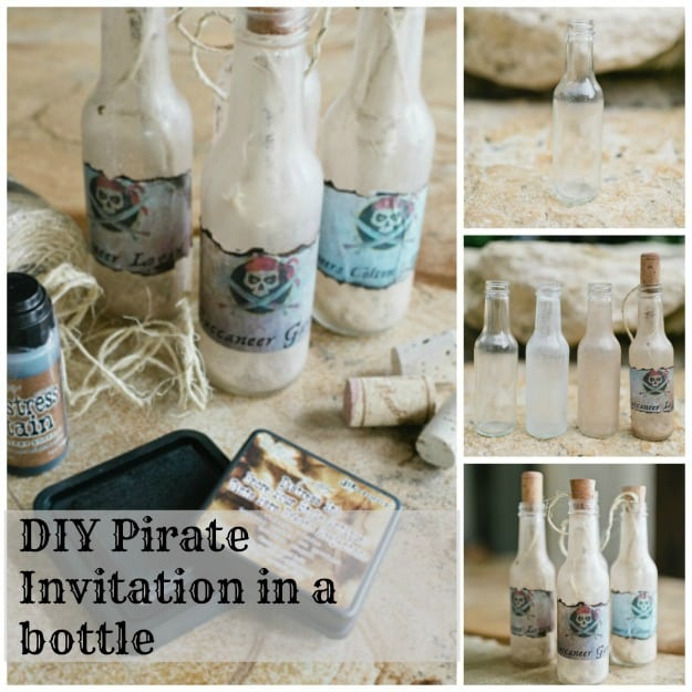Pirate Party Invites In A Bottle