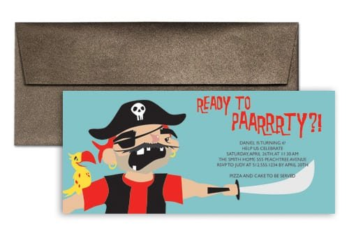 Pirate Party Invites Wording