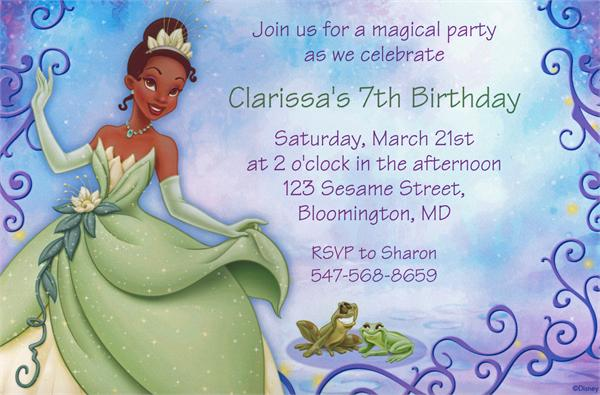 Princess And The Frog Invitations Free