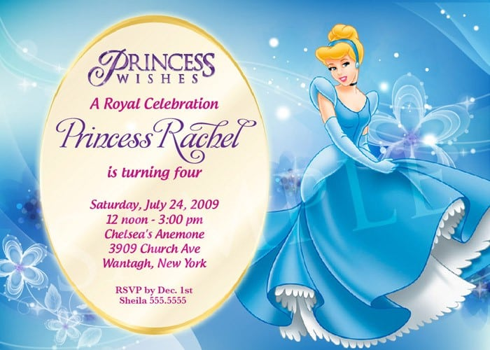 free princess invitation templates