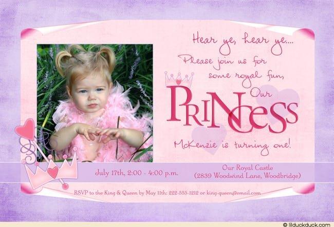 Princess Birthday Invitations