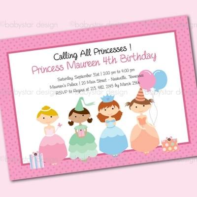 Princess Party Invitation Template