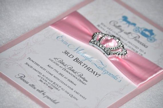 Princess Party Invitations Etsy