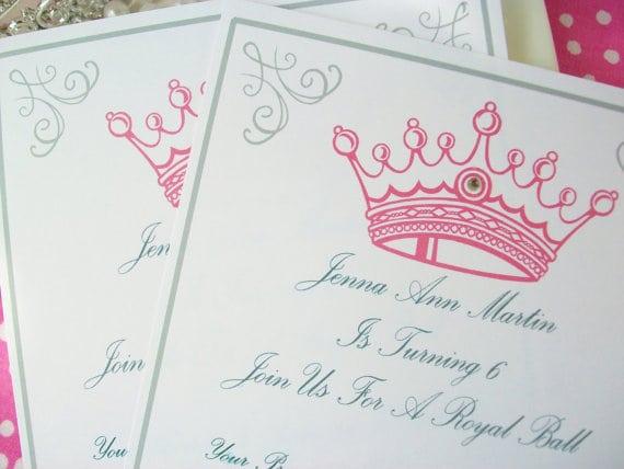 Princess Party Invitations Printable Free