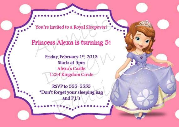 Princess Sleepover Invitations