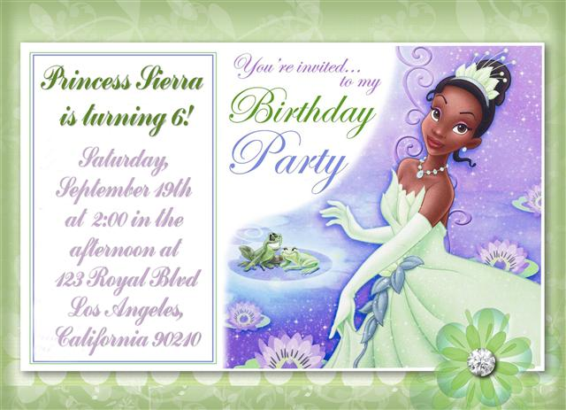 Princess Tiana Invitations