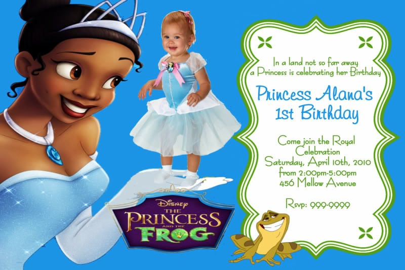 Princess Tiana Invitations Uk