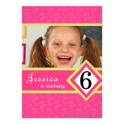 Printable 6 Years Old Birthday Invitations Template