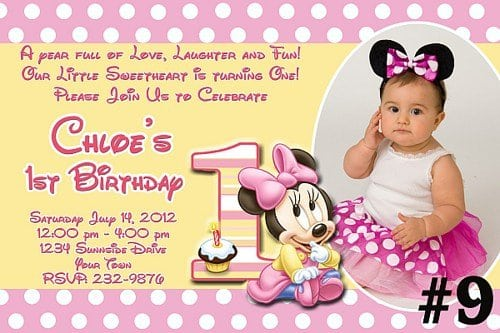 Printable Baby Minnie Invitations