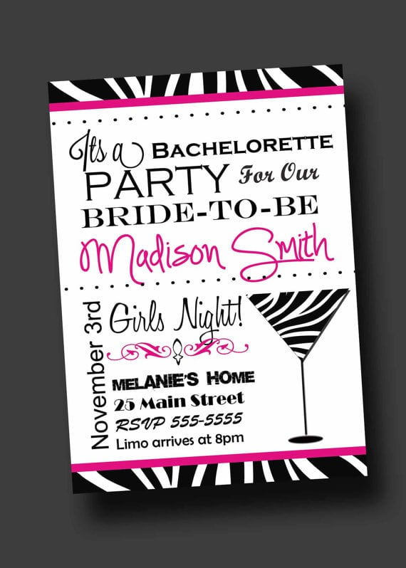 Printable Bachelorette Invitation Cards