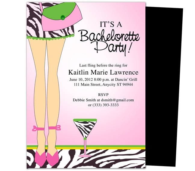 Printable Bachelorette Party Invitation Templates