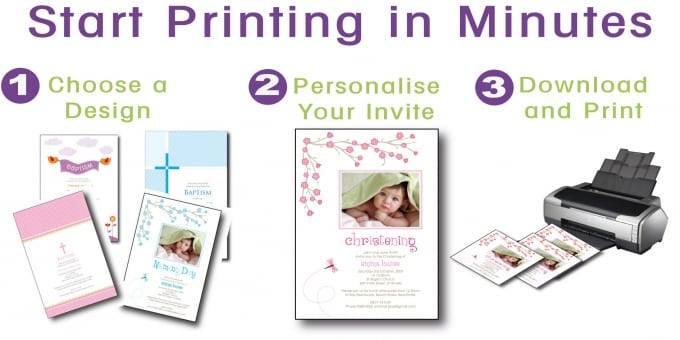 Printable Baptism Invitation Cards Free