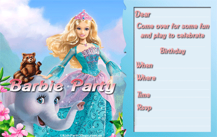Printable Barbie Invitations Free