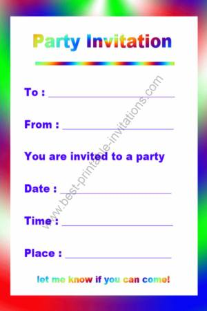 Printable Birthday Invitations Free
