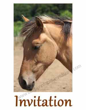 Printable Birthday Invitations Free Horse