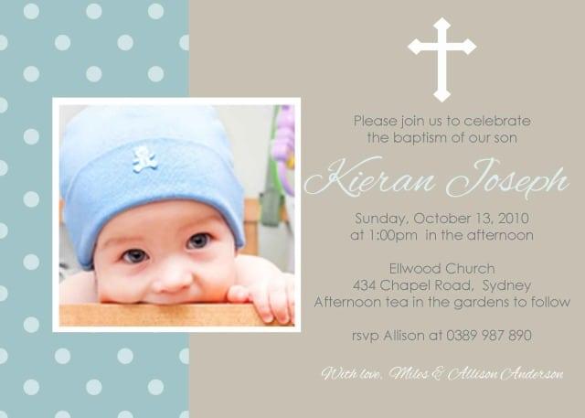Printable Christening Invitations Australia