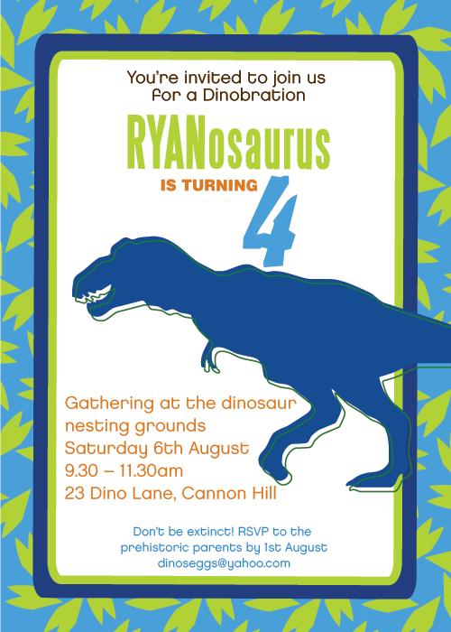 Printable Dinosaur Invitations