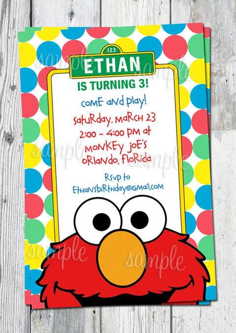 Printable Elmo Party Invitations