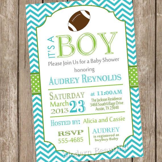 Printable Football Baby Shower Invitations