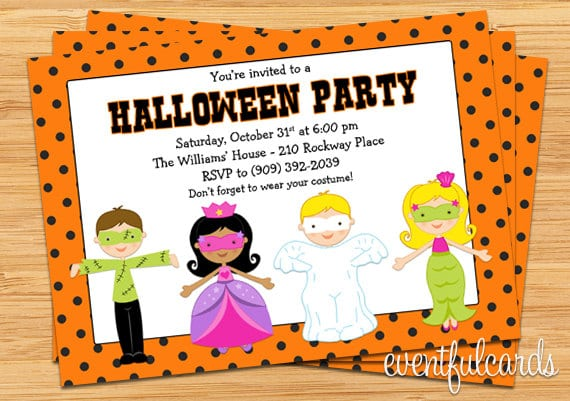 Printable Halloween Birthday Invitation For Kids