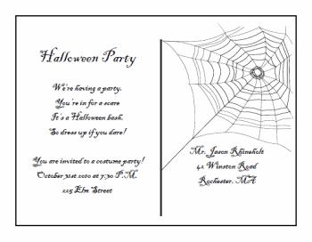 Printable Halloween Invitation Templates